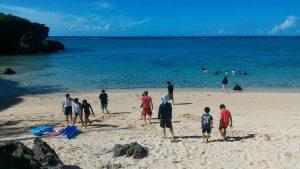 子どもキャンプ 海水浴